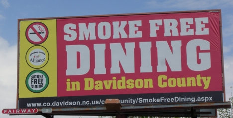 No smoking, unless your smoking a pig!  Photo used with permission of the photographer, Dale Vogel Reed