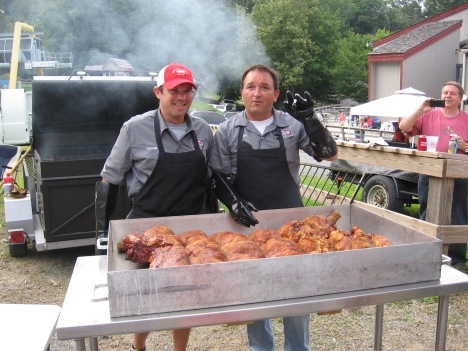 """Corporate Clay"" and ""Big Sam"" from the Skylight Inn cooked a pretty pig."